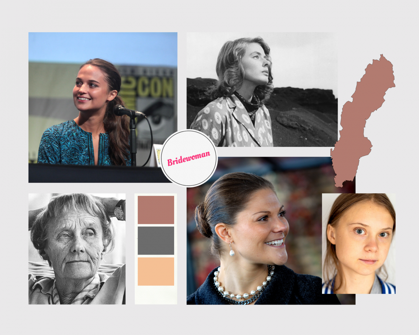 Top 5 famous women from Sweden